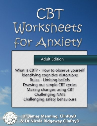 CBT Worksheets for Anxiety (Adult version): A simple CBT workbook ...
