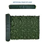 Shade Screen 39″ x 117″ inch Artificial Faux Ivy Privacy Fence Screen Leaf Vine Decoration Panel Top-quality Artificial Hedge for Outdoor/Indoor Decoration