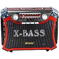 Rádio Recarregável Retrô AM/FM/SW/USB/SD/Bluetooth Livstar CNN 2907BTA