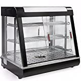 Food court restaurant Case 27'' Cabinet Glass Heated Food pizza Display Warmer for preserving