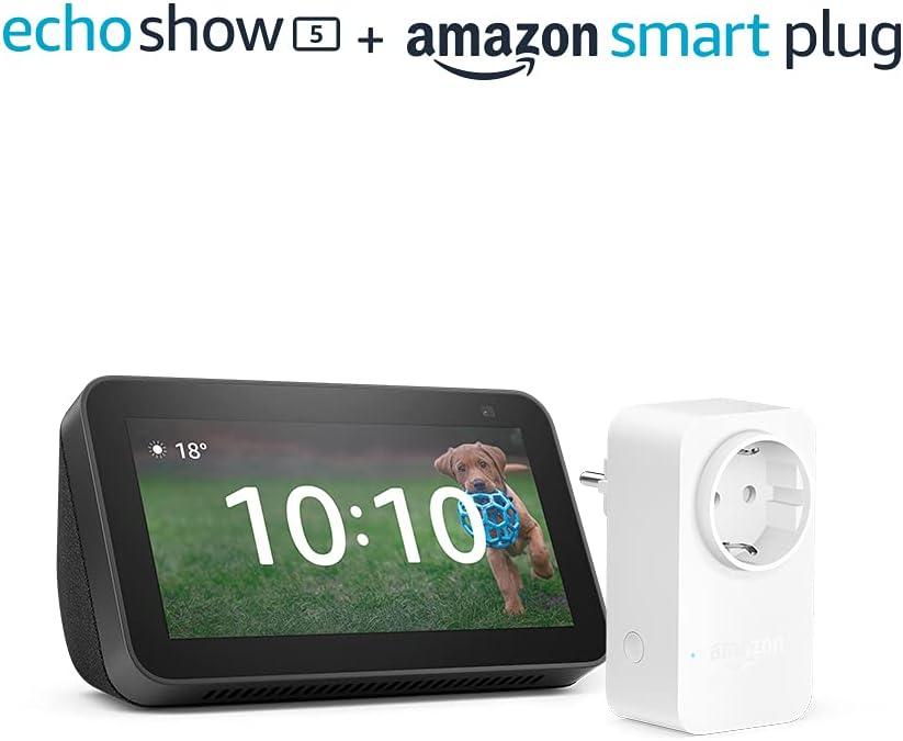 Pack Echo Show 5 (2.ª generación) + Amazon Smart Plug por 79,98€ ¡¡Ahorras 30€!!