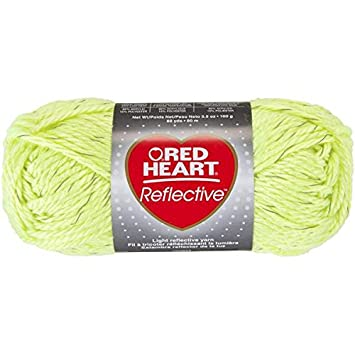 Coats Yarn Red Heart Reflective Yarn Neon Yellow Other