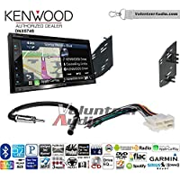 Volunteer Audio Kenwood DNX574S Double Din Radio Install Kit with GPS Navigation Apple CarPlay Android Auto Fits 1990-1996 Chevrolet Corvette