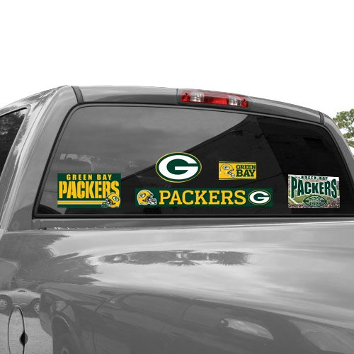 NFL Green Bay Packers 03734012 Multi Use Decal, 11