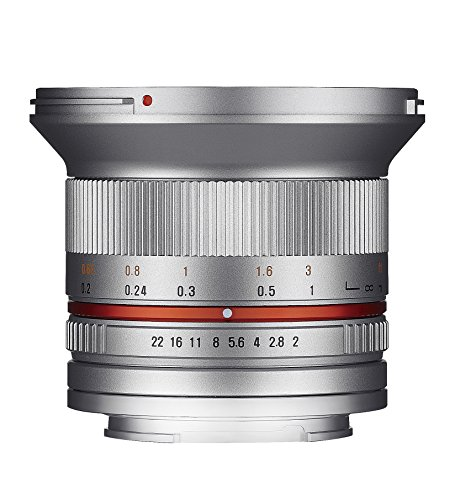 Samyang 1220509102 12 mm F2.0 Manual Focus Lens for Micro Four-Thirds - Silver