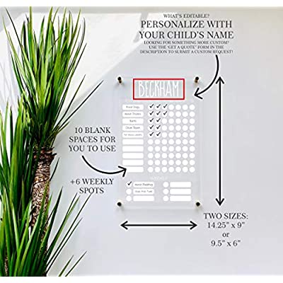 Personalized Chore Chart For Kids: Handmade
