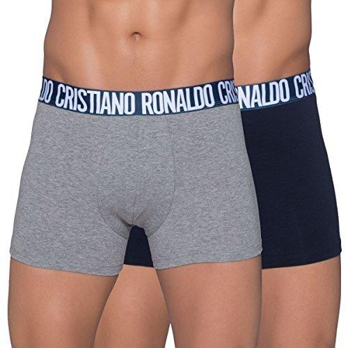 Cristiano Ronaldo Cr7 Boxer Men's 2-Pack Brife Underwear Black Gray 8103-49-905 (L) by Cristiano Ronaldo