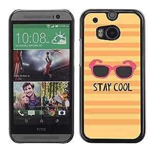 Stay Cool Gafas de sol Naranja Rosa Amarillo - Metal de aluminio y de plástico duro Caja del teléfono - Negro - HTC One M8