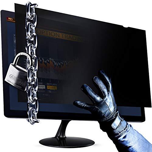 25 Inch (Diagonally Measured) Computer Privacy Screen Filter - Anti-Scratch, Anti-Glare Protector for Widescreen Monitors - 16:9 Aspect