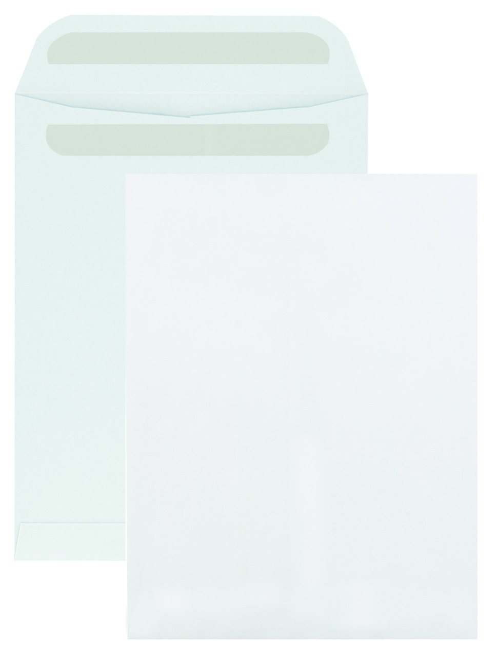 Columbian CO740 9x12-Inch Catalog Self-Seal Recycled White Envelopes, 100 Count