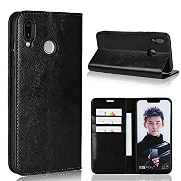 best website ae299 3cce0 Amazon.com: xtanbv- Huawei Honor Play Leather Case, Luxury Crazy ...