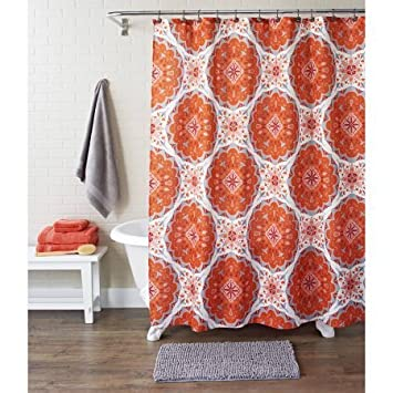 Amazoncom Better Homes And Gardens Piece Shower Set Nomadic - Better homes and gardens shower curtain
