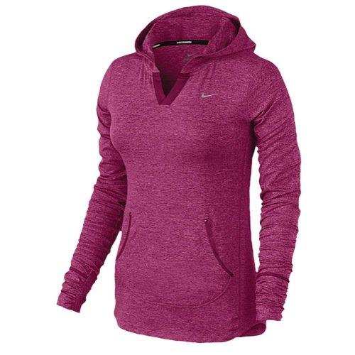 Nike Dri-FIT Element Women's Running Red Fireberry Hoodie Sweatshirt (X-Small)