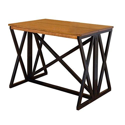 Table Flip Top Dining (Intercon SN-TA-4832F-BCR-C Siena Breakfast Bar, Black/Cider Finish)