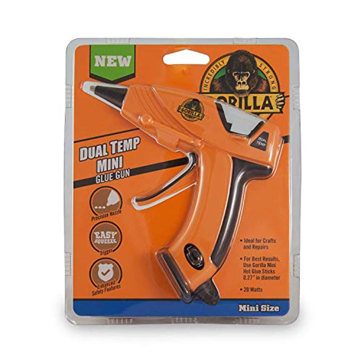 Gorilla 8401515 Hot Glue Gun And Sticks Orange Free
