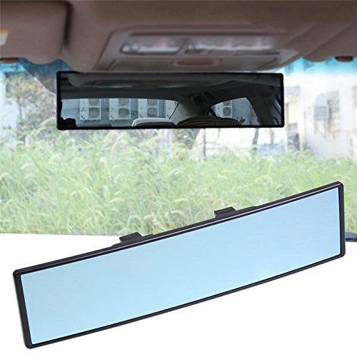 Universal Car Rearview Mirror, Anti-glare Blue Mirror | Prevents The Glare And Dazzle | Expands The View | 100% shatterproof | PREMIUM SAFETY PRODUCT Fit for Most Cars sweetlife