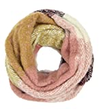 Women's Warm Fuzzy Plaid Infinity Scarf (Pink Plaid)