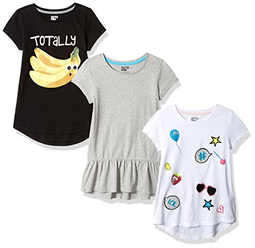 Spotted Zebra Big Girls' 3-Pack Short-Sleeve Tunic Tops,