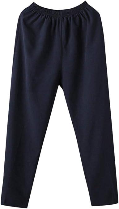 Pantalones Hombre Verano Casual Moda Comodo Deportivos Algodón y ...
