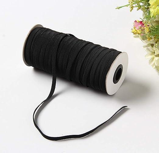 AWSW Cinta elástica de Costura Plana Negra elástica Ideal para ...