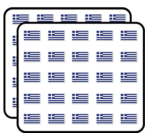 - Greece Greek Flag Sticker for Scrapbooking, Calendars, Arts, Kids DIY Crafts, Album, Bullet Journals 50 Pack