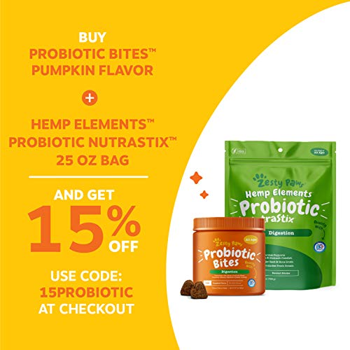 Probiotic for Dogs - with Natural Digestive Enzymes + Prebiotics & Pumpkin - for Diarrhea & Upset Stomach Relief + Gas & Constipation - Allergy & Immune + Hot Spots - Pumpkin Flavor - 90 Chew Treats