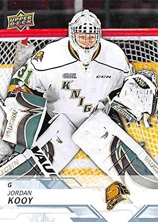 Amazon com: 2018-19 Upper Deck CHL Hockey #128 Jordan Kooy