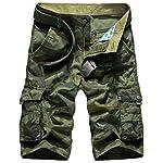 Panegy Adultes Combat Shorts pour Homme/Garçon Coton Bermudas Treillis Militaire Cargo Armée Pantalon de Travail… 8