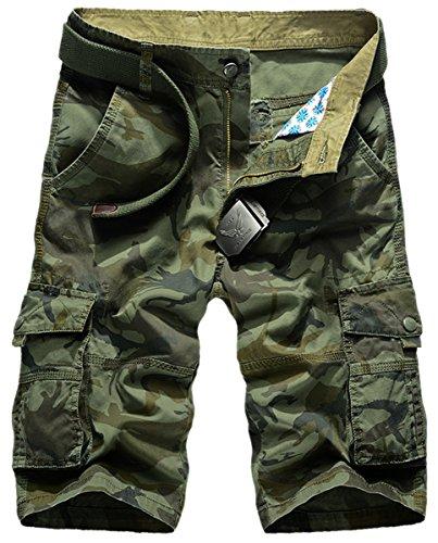 Panegy Adultes Combat Shorts pour Homme/Garçon Coton Bermudas Treillis Militaire Cargo Armée Pantalon de Travail… 1