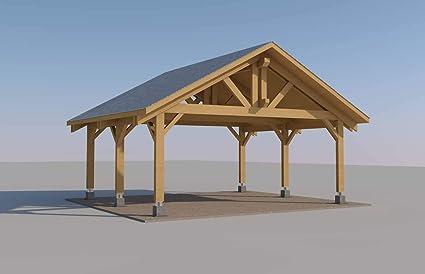 Amazon Com Ecohousemart Wooden Carport For 2 Vehicles