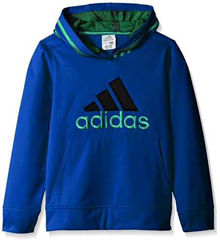 adidas Little Boys' Athletic Pullover Hoodie, Bright Blue, 7X