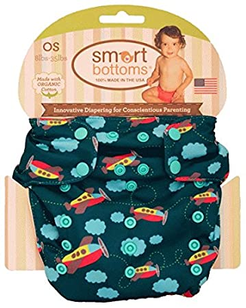 Smart Bottoms Smart OS Organic All-in-one Cloth Diaper (Aviator)