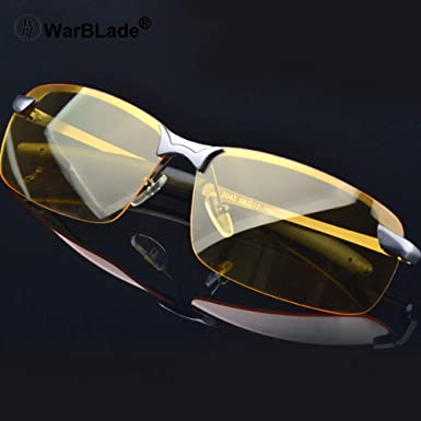 1014423559c WarBLade 2018 New Yellow Lense Night Vision Driving Glasses Men Polarized  Driving Sunglasses Polaroid Goggles Reduce