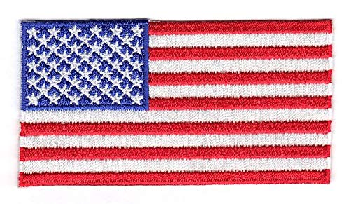 (United States Of America USA Embroidered Country Flag Iron On Emblem Patch Team)