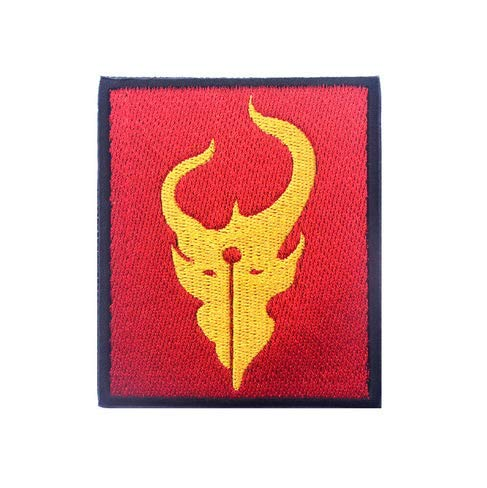 Warrior Red Team Demon Hunter Team 6 ST6 DEVGRU Military Patch Fabric Embroidered Badges Patch Tactical Stickers for Clothes with Hook & Loop -