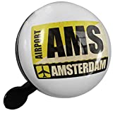 Small Bike Bell Airportcode AMS Amsterdam - NEONBLOND