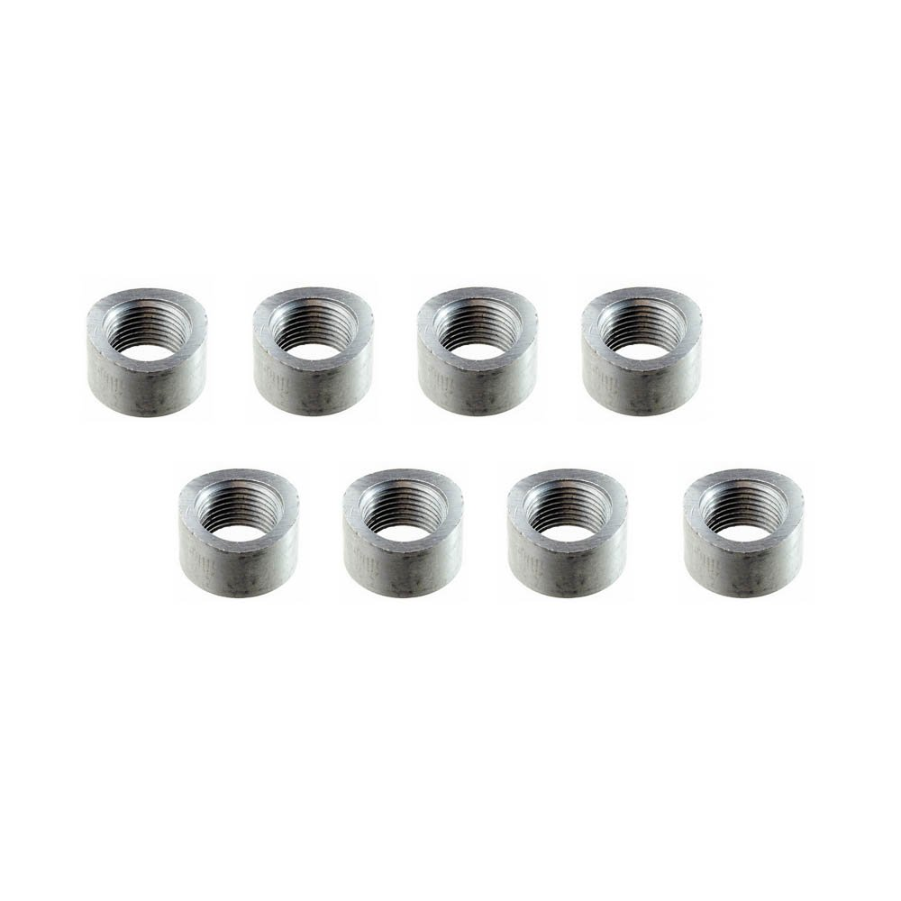 Notched - 8 Bungs, with Plug CarXX Universal Fit M18x1.5 O2 Oxygen Sensor Mild Steel Weld Bung