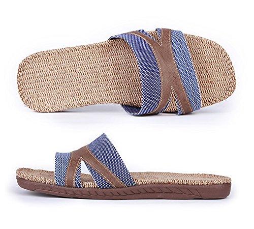 Slip On Zapatillas Puntera Abierta unisex sandalias de mulas absorbe la humedad de lino zapatos zapatillas de interior o al aire libre para adultos Envío gratis Ebay KpH4JgrUpi