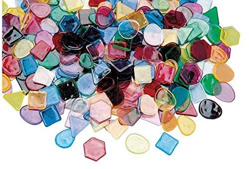 Colorations DESIGNER Large Translucent Mosaic Craft Tiles 1 lb. (Pack of 1500)