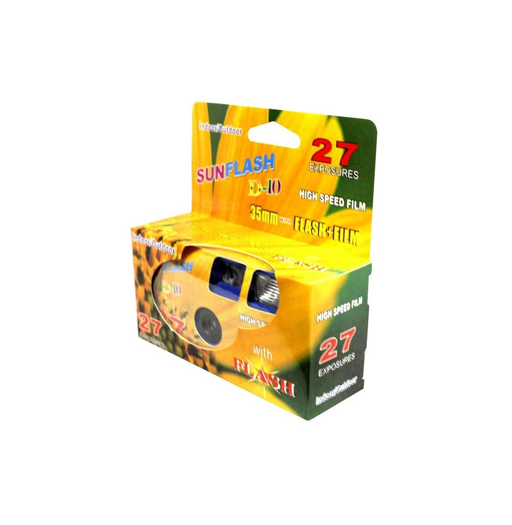SunFlash Disposable Camera 35mm Film One Time Single Use D-10 Fresh 2020 by FILM WHOLESALE