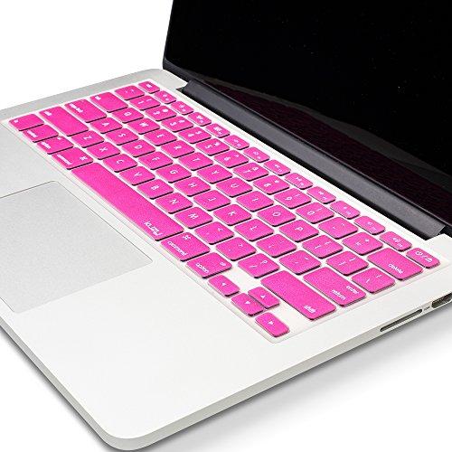Kuzy -METALLIC NEON PINK Keyboard Cover Silicone Skin for Ma