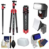 Sunpak 63'' Digipro Ultra CF 63 Carbon Fiber Monopod/Tripod with Ball Head & Case with Flash + Soft Box + Color Gels Set + Kit