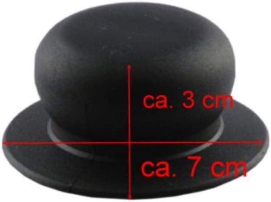 Kerafactum Thermom/ètre Bouton de Remplacement du thermocouple de la poign/ée du Pot Universelle Poign/ée Plastique en /Ø 8,5 cm du Couvercle de Remplacement du Couvercle pour casseroles Couvercle 1 pcs.