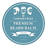 The Gentlemen's Beard Premium Bay Rum Beard Balm - 60ml - Tame Your Beard With No Greasiness - Make It Look Thicker and Fuller