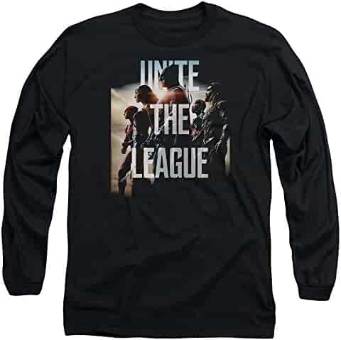 bd2beee7e509fe Sons of Gotham Justice League Dawn Men s Long Sleeve T-Shirt M Black