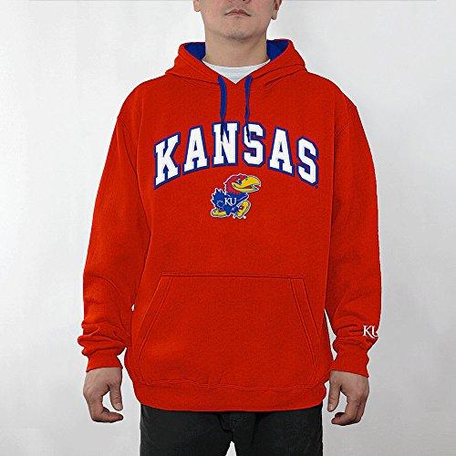 Elite Fan Shop Kansas Jayhawks Hooded Sweatshirt Captain Crimson - XL