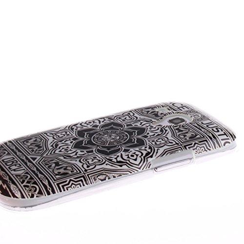 Kakashop Samsung S3 mini Soft Silicone Populaire colorée Colorful Peinture Blanc noire fleur Motif Protection [Scratch-Resistant] [Perfect Fit] Doux Souple Flexible TPU Bumper Cover Étui Coque Housse