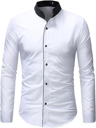 Camisa De Hombre Negocios Leey De Camisa Camiseta para Mode De Marca Hombre Tops Casual Splice