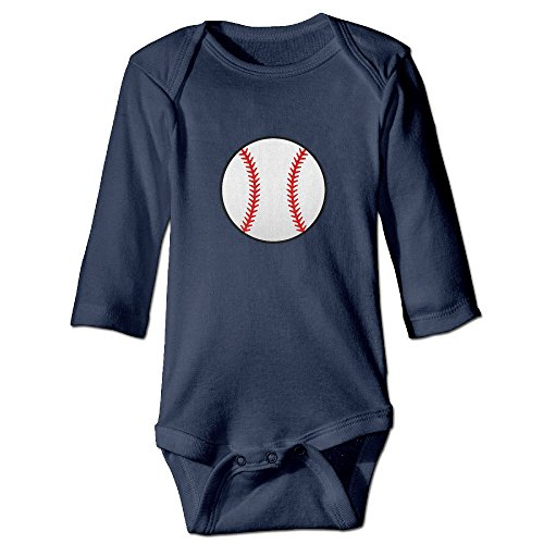Itongquy White Baseball With Red Seams Fashion Newborn Baby Suit Climb(Long Sleeve) 6 M Navy