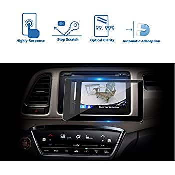 LFOTPP 2016-2018 Honda HRV HR-V EX EXL Navi Display 7 Inch Car Navigation Screen Protector, Tempered Glass 9H Hardness Audio Infotainment Display Center ...